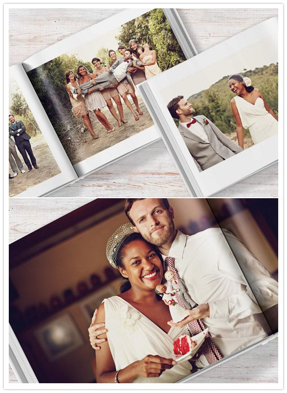 A great way to design your own wedding book with your wedding photos:  Blurb wedding books.