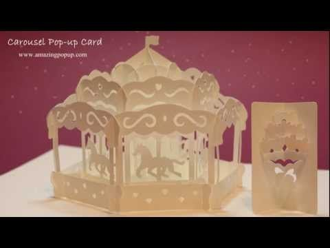 HOW TO MAKE A CAROUSEL POP-UP CARD - YouTube