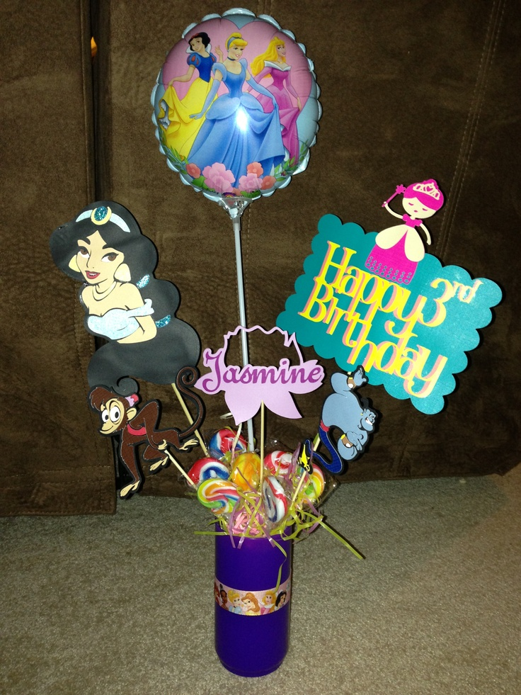 Jasmine princess birthday centerpiece do it yourself for Do it yourself centerpieces for birthday