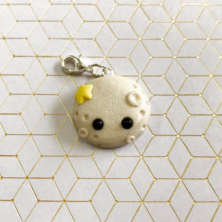Shimmer Moon Polymer Clay Charm (@thislilcharmer)