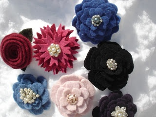 Beautiful felt flowers