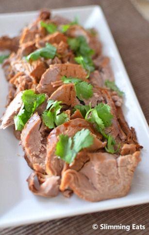 Slow Cooked Teriyaki Pork Tenderloin | Slimming Eats - Slimming World Recipes