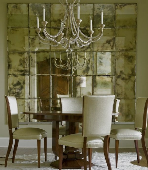Opening Up Your Interiors With Inspiring Mirrors : Mirrors Wall Dining Room.  Walls: Mirrors