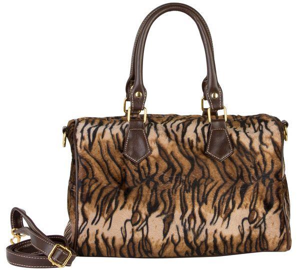 Tiger Print Duffle Handbag
