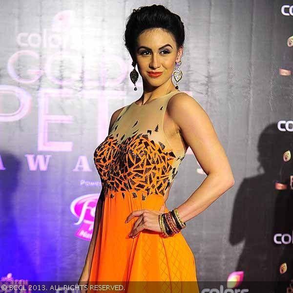 Dec 14, 2013: American Bollywood Dancer Lauren Gottlieb @ Colors TV 3rd Golden Petal Awards, Mumbai, (BCCL/Anuja Gupta)