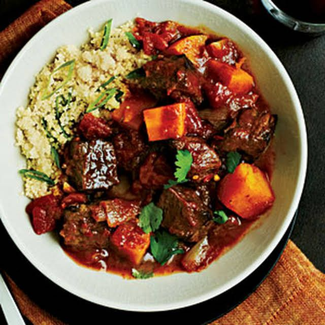 Beef Tagine With Butternut Squash Recipe Yummly Recipe Beef Tagine Beef Tagine Recipes Diced Beef Recipes