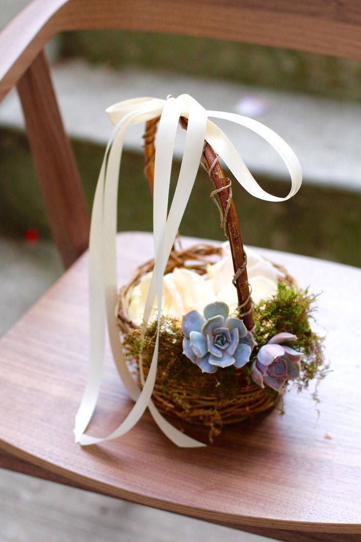 How to Cover a Flower Girl Basket | Our Everyday Life