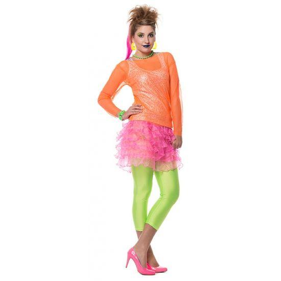 Neon roze rokje voor dames. Carnavalskleding 2016 #carnaval