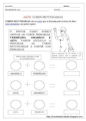 VARAL DE ATIVIDADES: CORES SECUNDÁRIAS