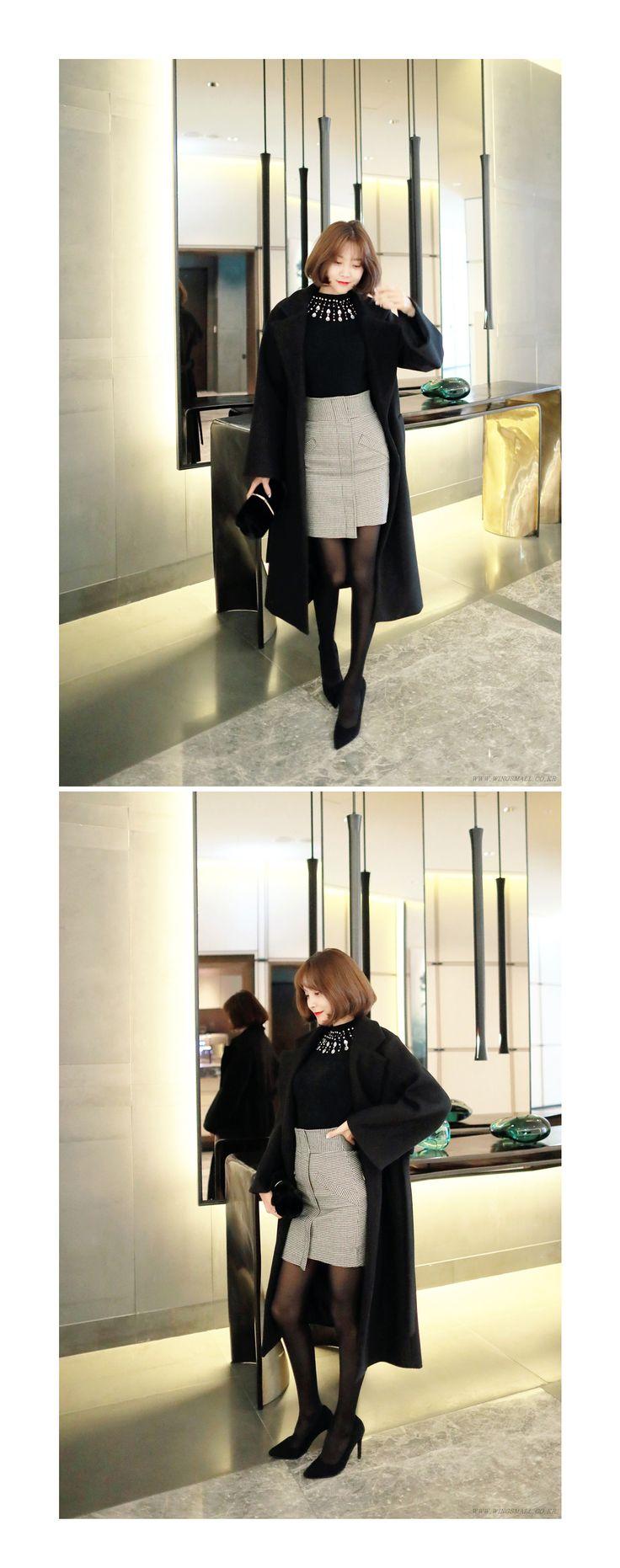 ビッグラペルガウンコート - プチプラな激安ファッション通販♥【WINGSMALL】日本公式♥安カワな人気レディースファッションが続々入荷中!!