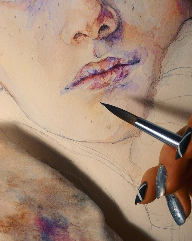 Очень медленный но все-таки #процесс 🎨 #акварель #рисунок #живопись #watercolor #process #painting #drawings