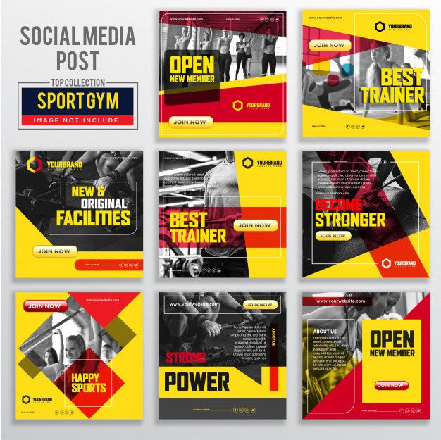 Collection Of Social Media Post Design Template Social Media Post Post Design Modelo De Banner