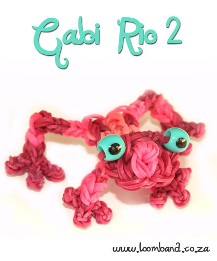 Gabi Rio 2 Loom Band Figurine Tutorial, instructions and videos on hundreds of loom band designs. Shop online for all your looming supplies, delivery anywhere in SA.