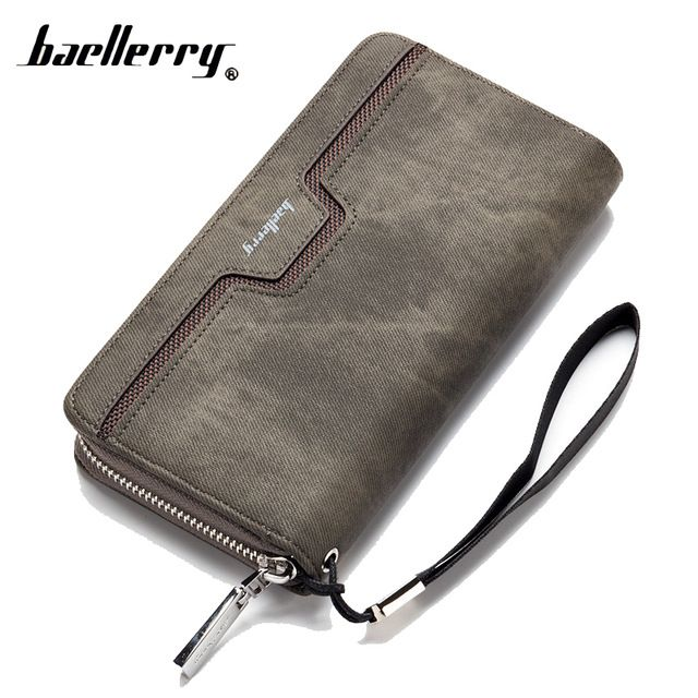 44a57ea31b8 Baellerry Long Money Clutch Bag Lady Women Men Wallet Male Female ...