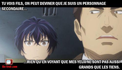 Différencier un personnage principal d'un personnage secondaire. #Anime #Memes