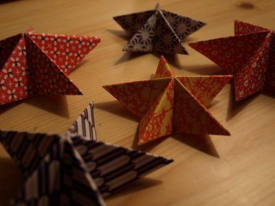 musings from michelle: handmade christmas: stackable oragami stars tutorial
