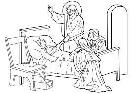 Resultado de imagen para dibujos de jesus sana ala suegra de pedro