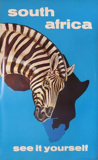 Vintage travel poster - South Africa