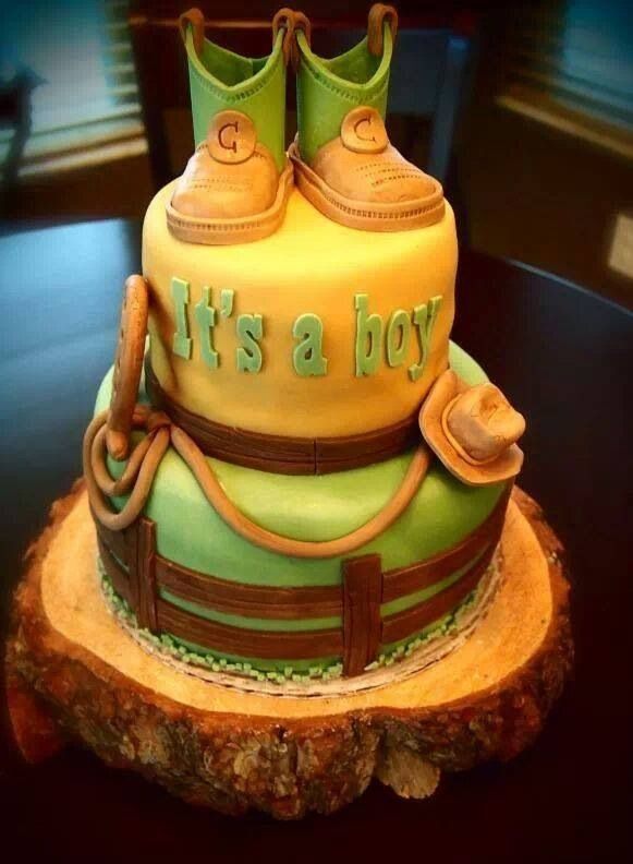 Country Baby shower cake.