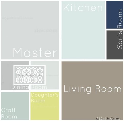 love it - Whole House Paint Palette and Painting Tips - Mad in Crafts