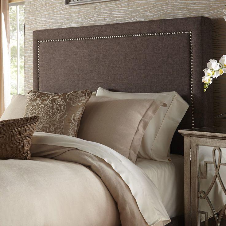 Square Nail Head Upholstered Headboard Beautifully