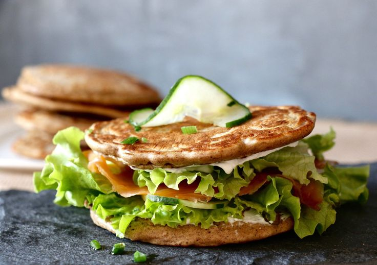 Sandwich blinis au sarrasin, sans gluten, ig bas