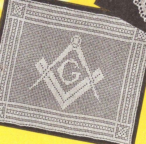 pdf masonic emblem filet crochet pattern filet crochet