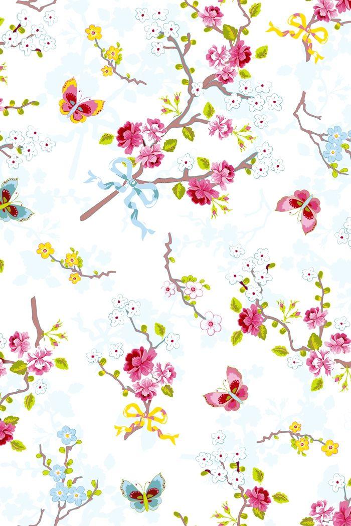 PiP Chinese Rose White wallpaper | Traditional | Wallpaper | PiP Studio