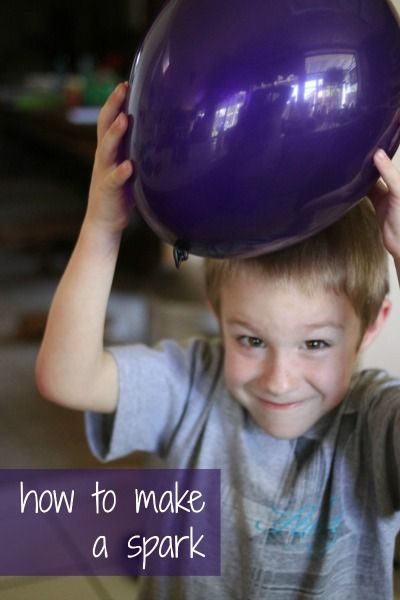 Demonstrate what causes lightening to occur with a simple balloon experiment.  You have to see the spark yourself to believe it!