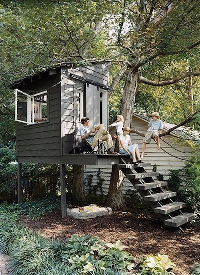 129 best images about treehouses on pinterest trees a for Simple tree house plans