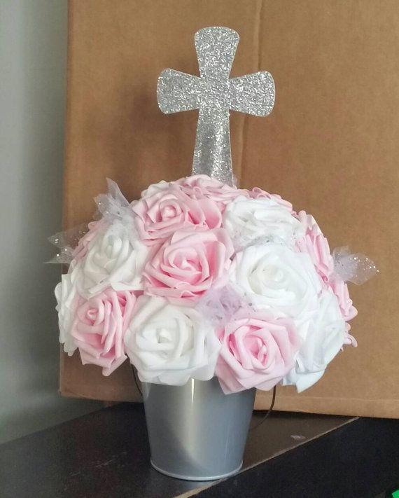 Baby Girl Christening Favors Glass Ornament: Best 25+ Girl Baptism Centerpieces Ideas On Pinterest