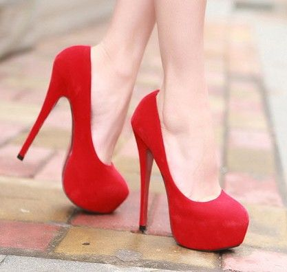 You can watch me walk if you want to want to... In my red high heels! Every girl needs a pair of red high heels!
