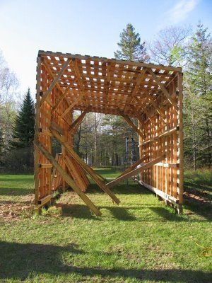 pallet building ideas. a storage barn using pallets might be good idea for the hay and feed with pallet building ideas e