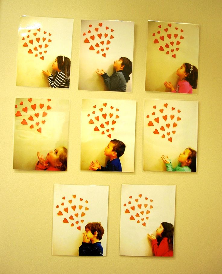 Beautiful Valentine gift!!! Take a photo of the child blowing kisses of hearts!!…
