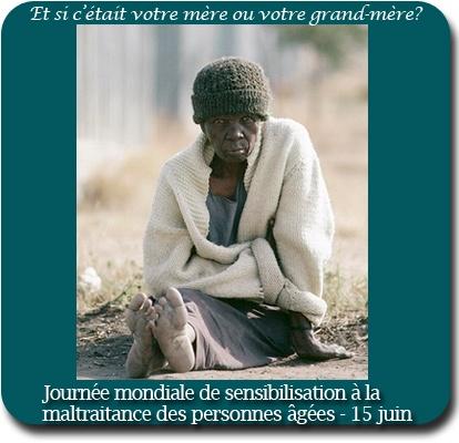 15 juin #maltraitance : C'est aujourd'hui la Journée de sensibilisation à la maltraitance des personnes âgées : parce que nous avons tous des parents, protégeons les droits fondamentaux des personnes âgées et respectons leur dignité! http://www.un.org/fr/events/elderabuse/