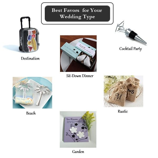 Here are the best wedding favors for your wedding type.