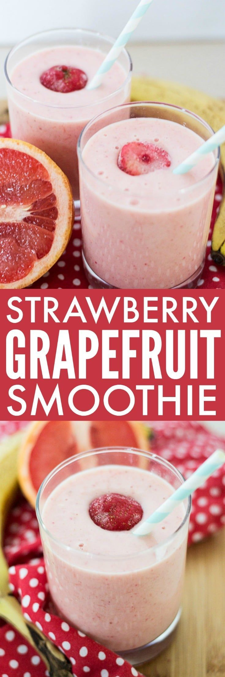 Our Strawberry Grapefruit Smoothie is both sweet and tart, making it a refreshing pick-me-up to start your morning.