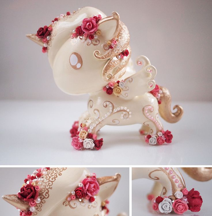 Beautiful Tokidoki Unicorno hand-painted vinyl figure. Love the color palette and the resin flowers