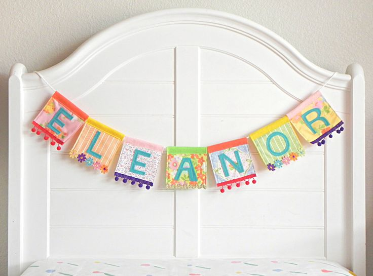 Name Garland, Personalized Garland, Felt Name Banner, Name Bunting, Baby Name Banner, Custom Name Garland, Name Banner, Rainbow Garland, by AFeteBeckons on Etsy https://www.etsy.com/listing/487989922/name-garland-personalized-garland-felt