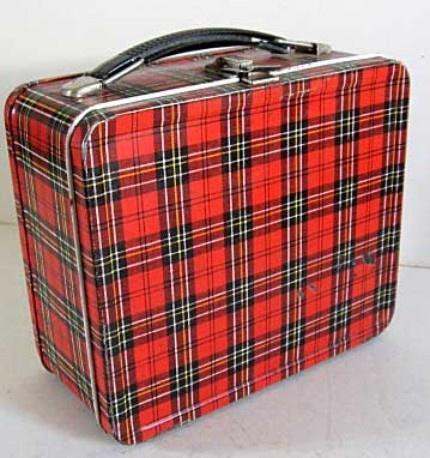 1950s Plaid Lunchbox