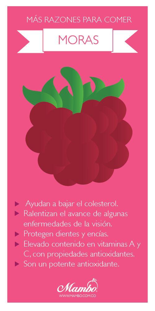Beneficios de las moras. Frutas y verduras Mambo. www.mambo.com.co