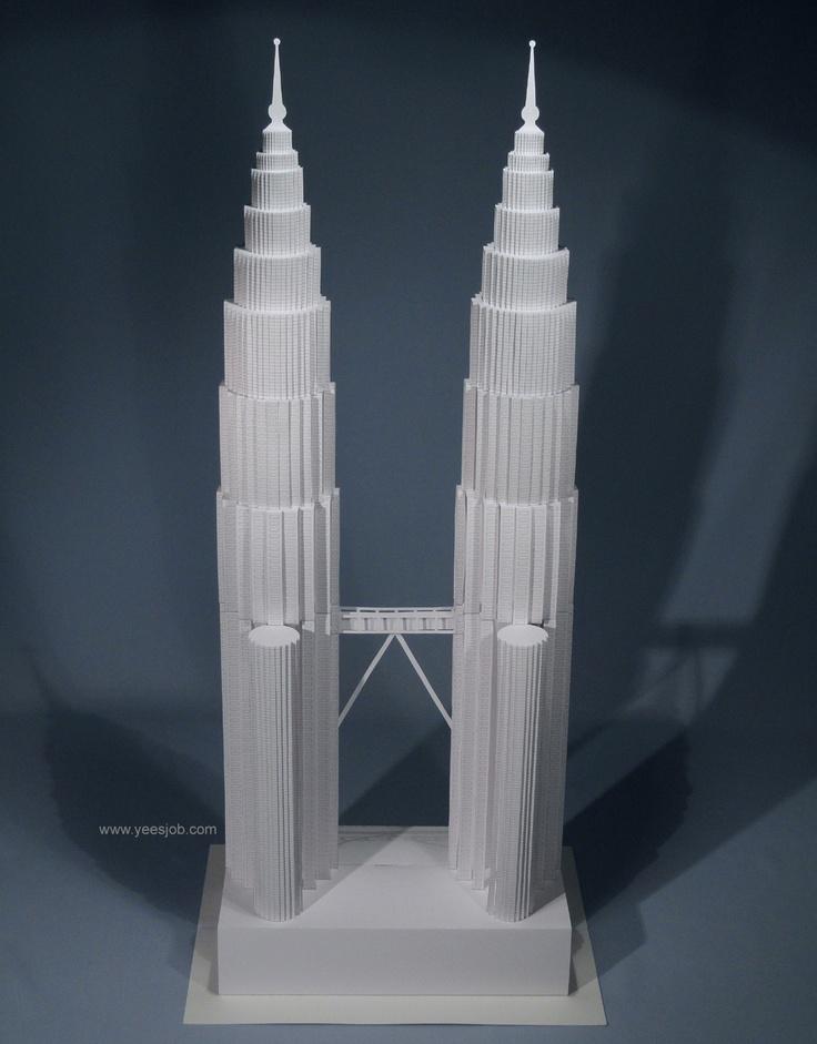 Petronas Towers Origami Pinterest Towers