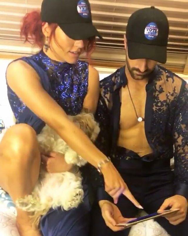 Adorbs #teamstopandgo killed it tonight  ❤❤ #DancingWithTheStars #Dancing #sharnaburgess #DanceMoms #dwts #creative #pretty #beautiful #dance #dancer #ballroom #perfect #love