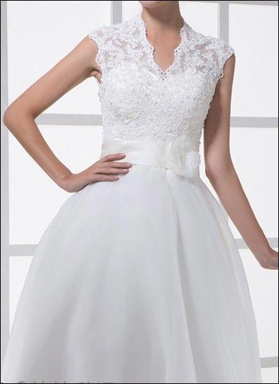 Spitzen-Brautkleid Standesamt 50er Jahre