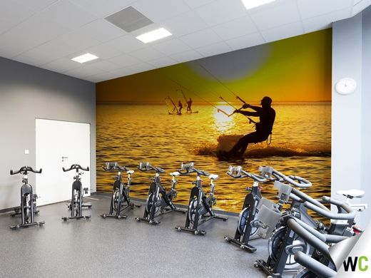 Kitesurfing wall mural