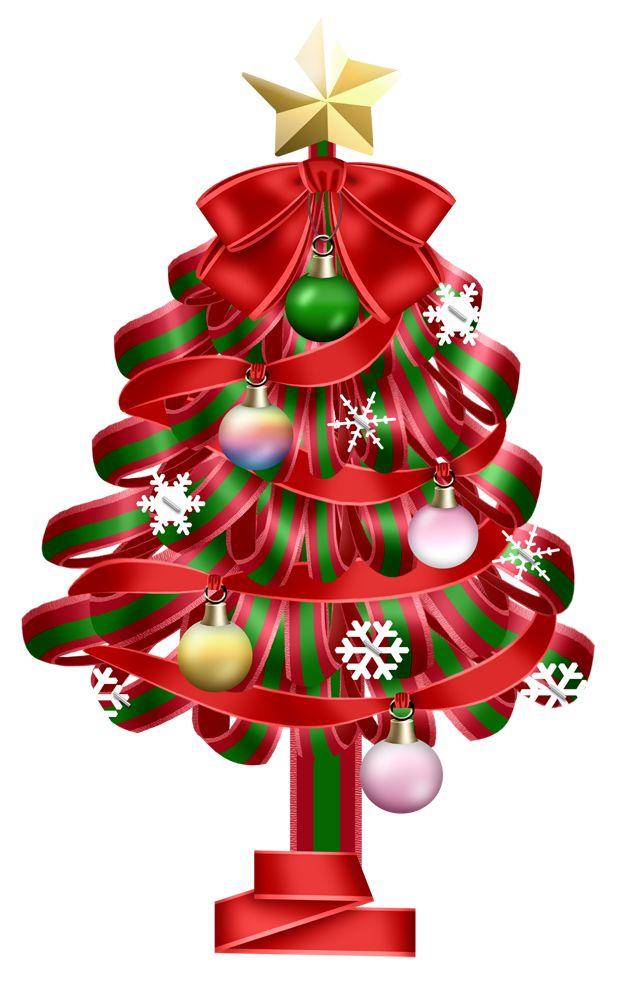 transparent red christmas deco tree clipart christmas. Black Bedroom Furniture Sets. Home Design Ideas