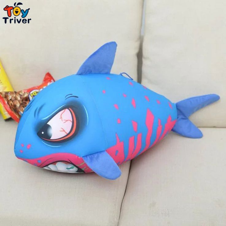 $21.99! Creative foam particles containing plush shark toy stuffed doll gift for baby kids children boy free shipping Triver Toy