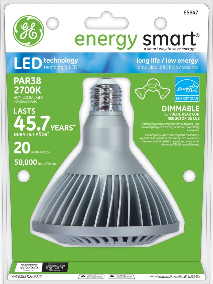 Ge Energy Smart R Dimmable 75w Replacement 20w Indoor And Outdoor Par38 Led Light Bulb Warm