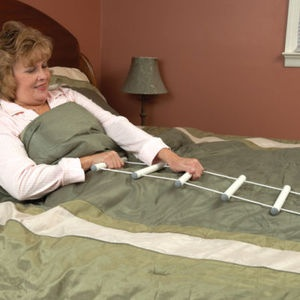bed mobility with rope ladder.  Now I know what this is all about!