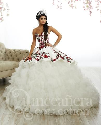 cf8124b539a Rose Charro Quinceanera Dress by House of Wu 26892